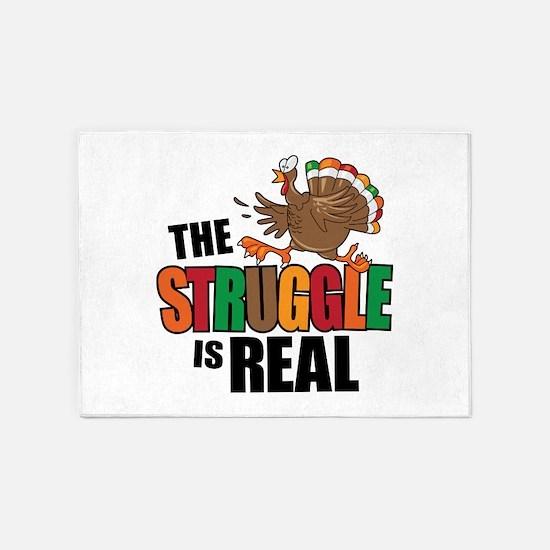 Turkey Struggle 5'x7'Area Rug