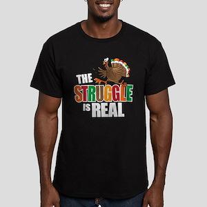 Turkey Struggle Men's Fitted T-Shirt (dark)