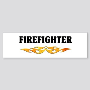 Firefighter Flames Logo Bumper Sticker