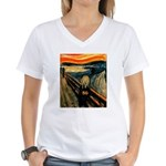 Scream 50th Women's V-Neck T-Shirt