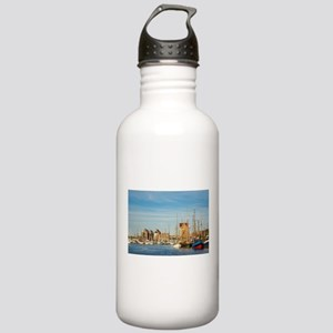 City port in Rostock Stainless Water Bottle 1.0L