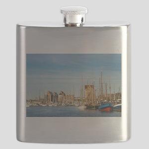 City port in Rostock Flask