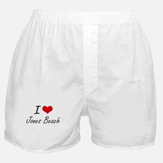 I love Jones Beach New York artistic Boxer Shorts