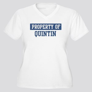 Property of QUINTIN Women's Plus Size V-Neck T-Shi