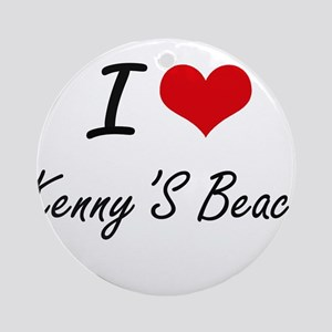 I love Kenny'S Beach New York arti Round Ornament