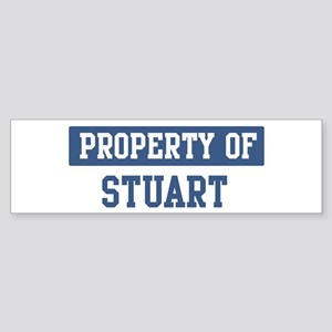Property of STUART Bumper Sticker