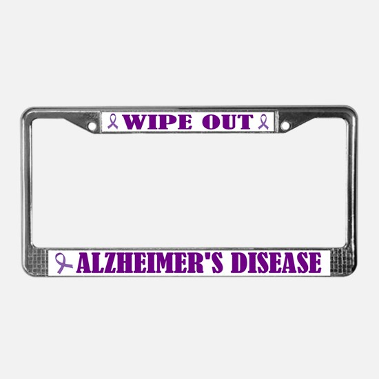 Wipe Out Alzheimer's License Plate Frame