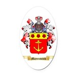 Mayerovitch Oval Car Magnet