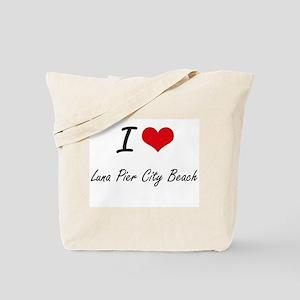 I love Luna Pier City Beach Michigan art Tote Bag