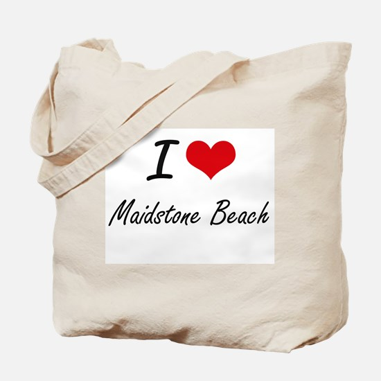 I love Maidstone Beach New York artistic Tote Bag