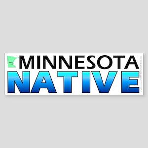 Minnesota native (bumper sticker 10x3)