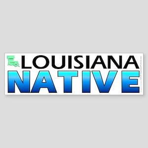 Louisiana native (bumper sticker 10x3)