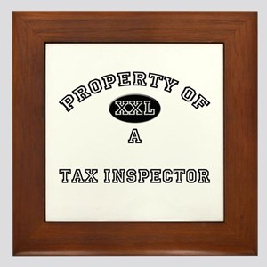 Property of a Tax Inspector Framed Tile