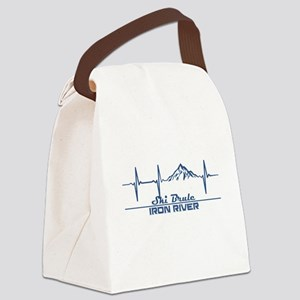Ski Brule - Iron River - Michig Canvas Lunch Bag