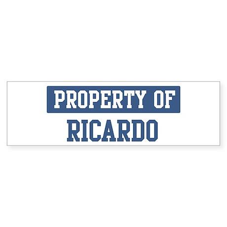 Property of RICARDO Bumper Sticker