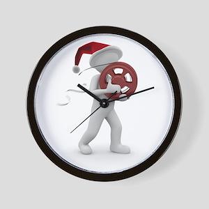 hollywood christmas Wall Clock