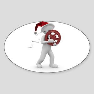 hollywood christmas Sticker