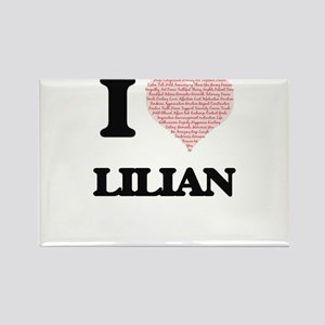 I love Lilian (heart made from words) desi Magnets