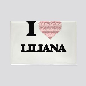 I love Liliana (heart made from words) des Magnets