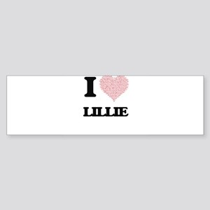 I love Lillie (heart made from word Bumper Sticker