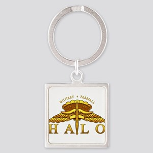 Golden Halo Badge Keychains
