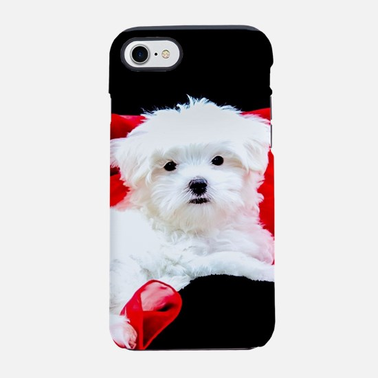 White Maltese Puppy Lying on iPhone 8/7 Tough Case