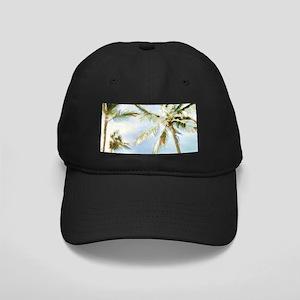 Vintage Hawaiian Beach Black Cap