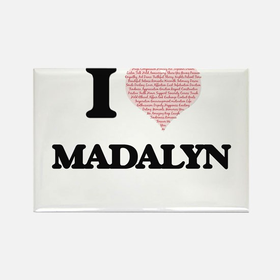 I love Madalyn (heart made from words) des Magnets