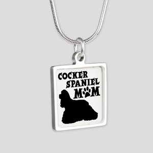 COCKER MOM Silver Square Necklace