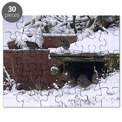 Quail in the snow Puzzle