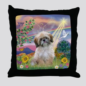 Cloud Angel & Shih Tzu  Throw Pillow