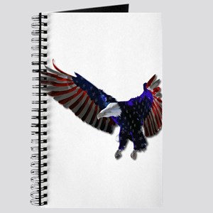 Red White and Blue American Flag Bald Eagl Journal