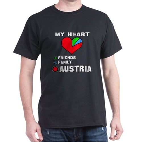 My Heart Friends, Family and Austria T-Shirt