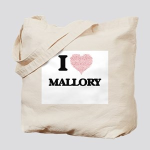 I love Mallory (heart made from words) de Tote Bag