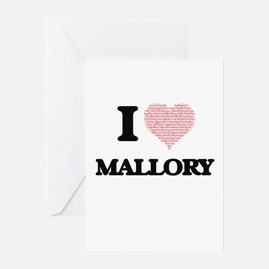 I love Mallory (heart made from wor Greeting Cards
