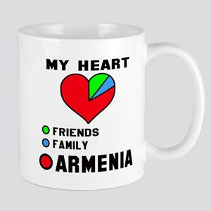 My Heart Friends, Family and Arm 11 oz Ceramic Mug