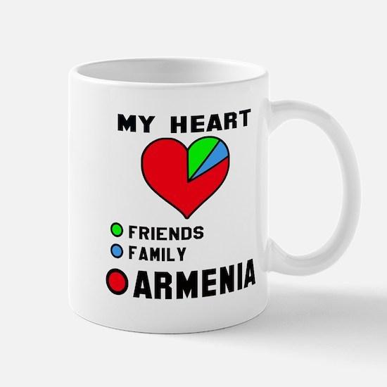 My Heart Friends, Family and Arm Mug
