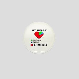 My Heart Friends, Family and Armenia Mini Button