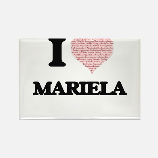 I love Mariela (heart made from words) des Magnets