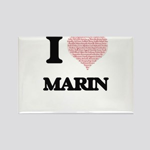 I love Marin (heart made from words) desig Magnets
