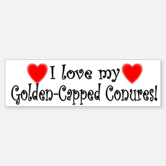 I Love my Golden Capped Conures Bumper Bumper Bumper Sticker