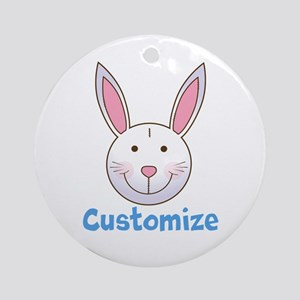 Custom Easter Bunny Round Ornament