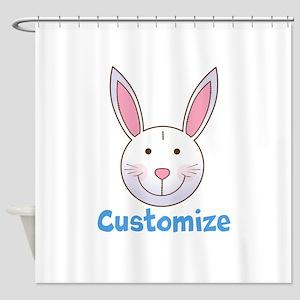 Custom Easter Bunny Shower Curtain