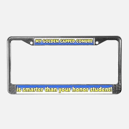 Hnr Stdnt Golden Capped Conure License Plate Frame
