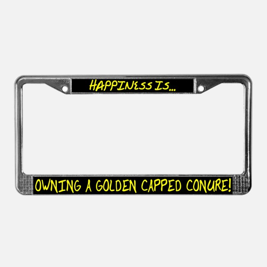 HI Owning Golden Capped Conure License Plate Frame