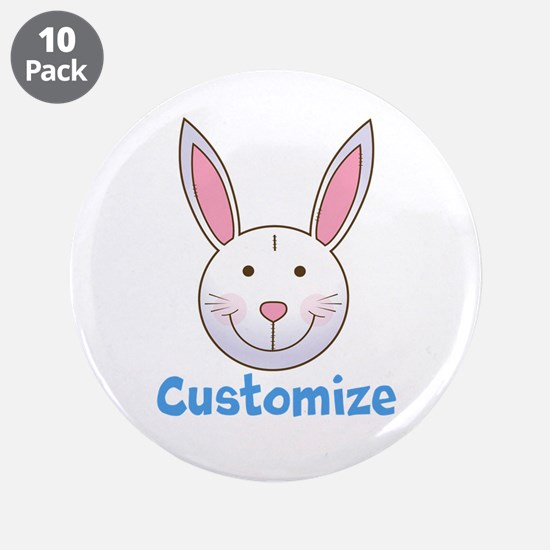 "Custom Easter Bunny 3.5"" Button (10 pack)"