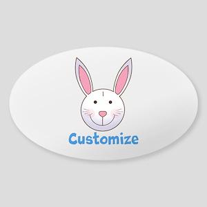 Custom Easter Bunny Sticker (Oval)