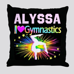 TOP GYMNAST Throw Pillow