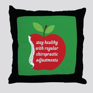 Stay Healthy With Chiro Throw Pillow