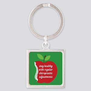 Stay Healthy With Chiro Square Keychain Keychains